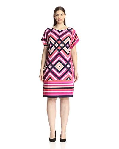 Sandra Darren Plus Women's Printed Shift Dress