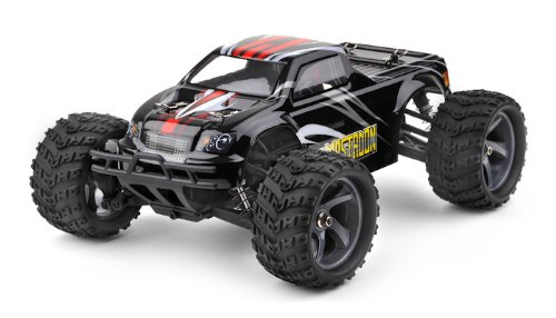 Iron Track Rc Electric Mastadon 1:18 4Wd Brushless Truck Ready To Run (Black) ***Required To Run And Sold Separately: Four Aa Batteries & Li-Po Battery Charger***