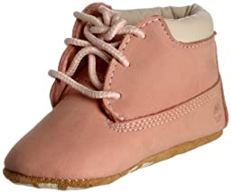 Timberland Crib Bootie and Hat (Infant/Toddler),Pink Nubuck,3 M US Infant