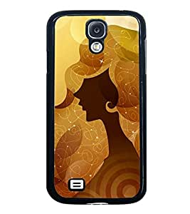 Fuson Premium 2D Back Case Cover Designed lady With Pink Background Degined For Samsung Galaxy S4 Mini::Samsung Galaxy S4 Mini i9190