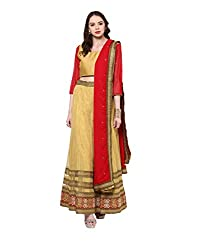 Yepme Women's Multi-Coloured Blended Lehengas - YPMLEHG0041_Free Size