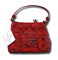 Donna Sharp Quilted Red Log Cabin Petite Handbag Quilt 71084