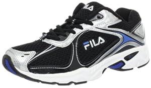 Fila Men's Trexa Lite Sneaker, Black/Metallic Silver/Campanula, 8.5 M Us