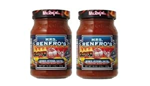 Mrs. Renfro's Ghost Pepper Salsa (16 oz Jars, Scary Hot) 2 Pack