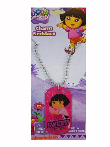Dora the Explorer Charm Necklace - Nick Jr. Character Dog Tag Necklace