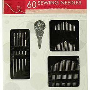 Lowest Prices! Sewing Essentials, 60 Needles and Needle-threader, Sewing Kit Set