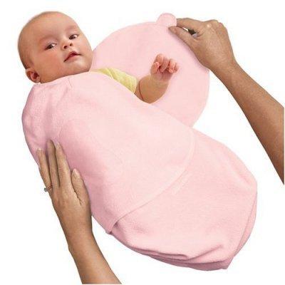 Summer Infant SwaddleMe Infant Wrap Cotton Knit, Pink, Small/Medium