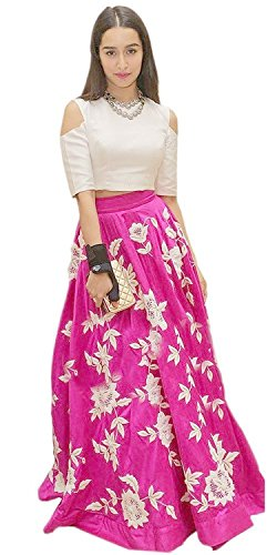 Expert-Womens-New-Fashion-Designer-Fancy-Wear-Low-Price-Todays-Special-Deal-Offer-All-Type-Modern-Banglori-Pink-Embroidered-Lehenga-Style-Salwar-Suit