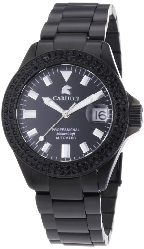 Carucci Watches Women's Automatic Watch Brindisi CA2200ST-BK-BK with Metal Strap