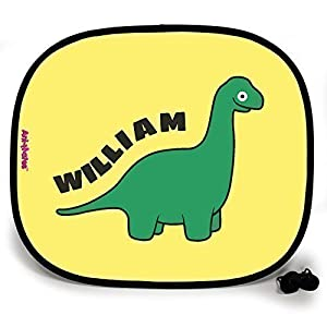 123t ANI-MATES DINO BRACHIOSAURUS PERSONALISED Baby/Child Vehicle Sunshade x 2