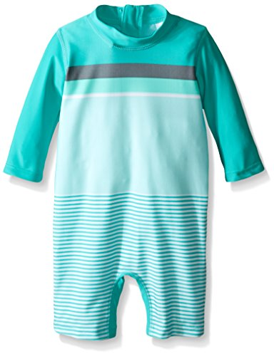 Carter 39 s baby one piece rash guard green 18 months for Baby rash guard shirt