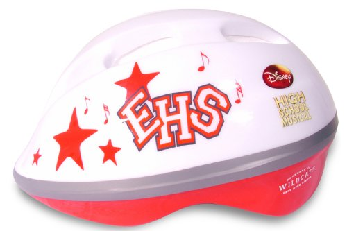 Disney East High School Musical Girls Helmet - Red/White 50-54 CM