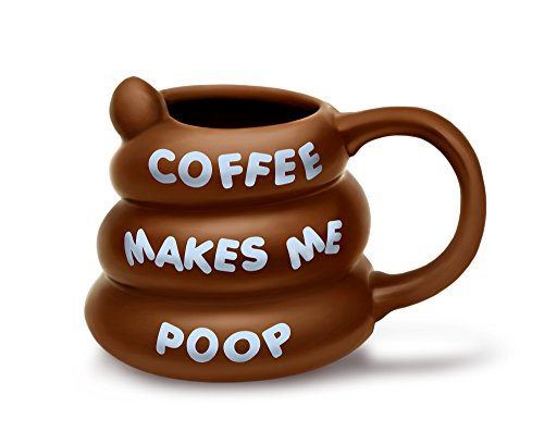 BigMouth Inc Coffee Makes Me Poop Mug, Brown