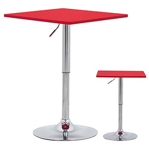 WOLTU-BT03rt-a-Bartisch-Bistrotisch-Partytisch-Design-Tisch-mit-Trompetenfu-drehbare-Tischplatte-aus-robustem-MDF-hhenverstellbar-Dekor-Rot