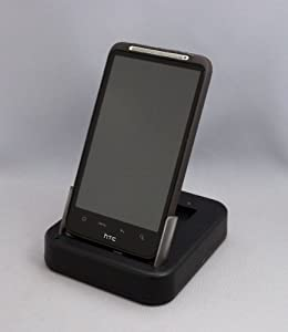 HTC Desire HD USB Cradle Desk Sync Charger + 2nd battery charging slot with UK AC mains charger