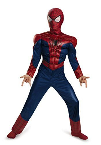 Marvel Little Boys' The Amazing Spiderman 2 Deluxe Costume, Small 4-6