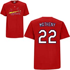 Mike Matheny St Louis Cardinals Red Player T-Shirt by Majestic by Majestic