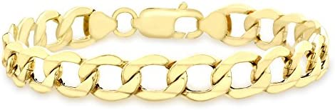 Carissima 9 ct Yellow Gold Six Sided Curb Bracelet 21 cm/8.5-inch
