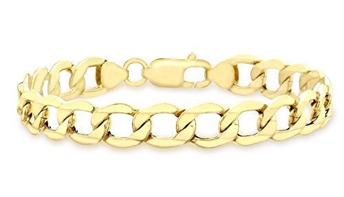 Carissima 9 ct Yellow Gold Six Sided Curb Bracelet 21 cm/8.5 inch
