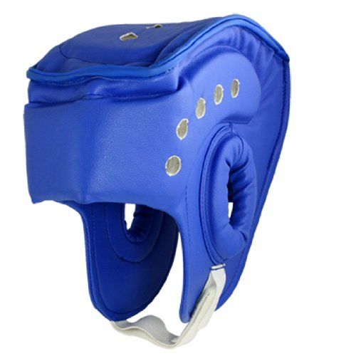 Taekwondo Kickboxing Helmet Head Guard Protector Blue for Adult