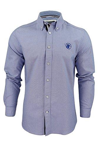 Uomini Camicia Oxford by Santa Monica Maniche Lunghe (Blu pallido) M