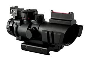 Aim Sports 4X32 Dual III. Scope with Fiber Optic Sight by AIM Sports
