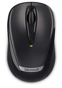 Microsoft Wireless Mobile Mouse 3000 Souris sans fil Optique Nano-récepteur Noir