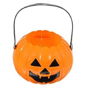 Halloween LED Flashing Plastic Pumpkin Basket Masquerade ...