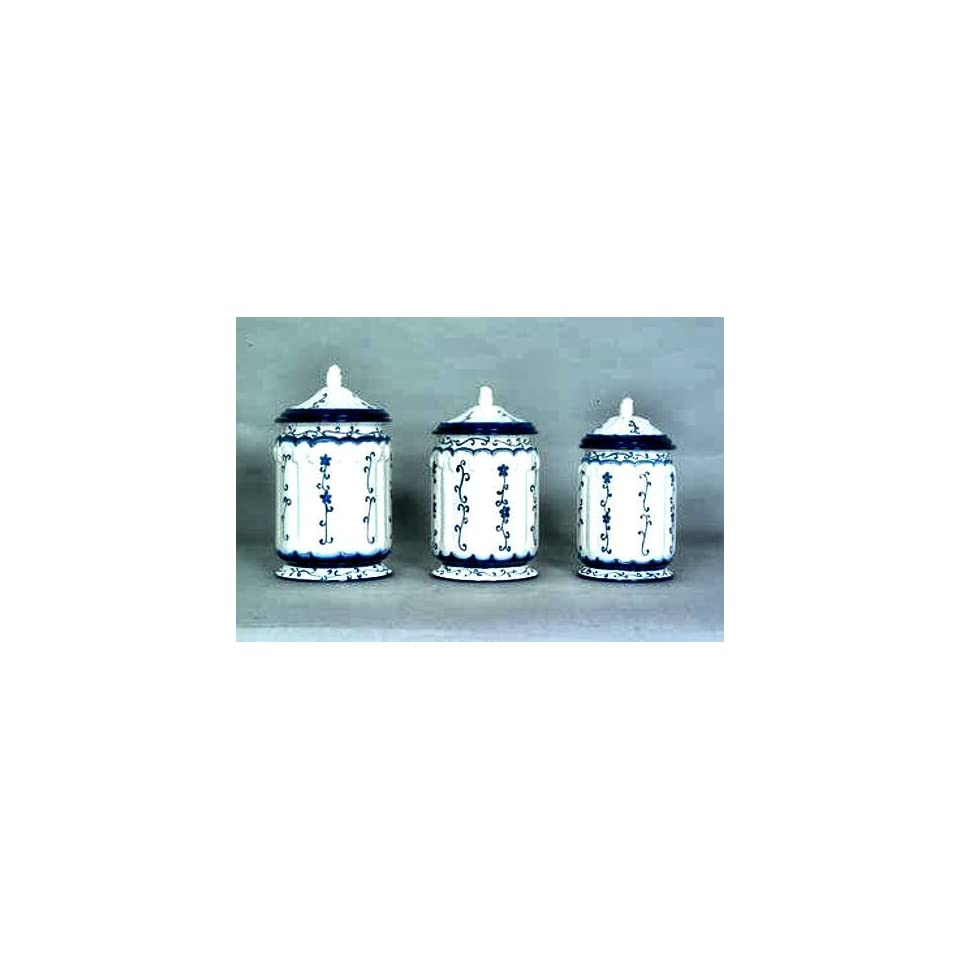 blue and white canister set kitchen canister blue and white kitchen storage hand