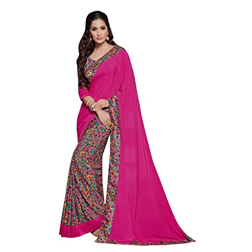 Jay Sarees Indian Ethnic Traditiona Floral and Abstract Print Saree