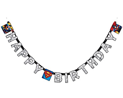 American Greetings Superman Birthday Party Banner