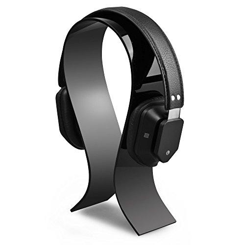 AmoVee® Acrylic Headphone Stand Display Headphone Holder Headphone Hanger Headset Hanger Support - Suitable For All Headphone Sizes - Bose QC15, Sony MDR-XB500, Sennheiser HD 202 II, Shure, Ultimate Ears, Koss PortaPro, JVC, Philips, Monster Beats ...