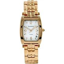 Krug-Baumen Mens Tuxedo White Face Gold Bracelet Watch