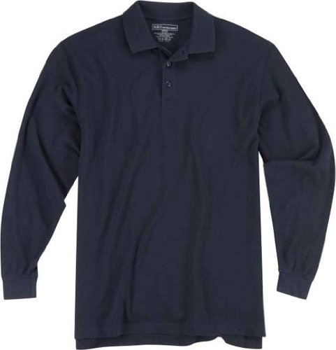 5.11 #42056 Long Sleeve Professional Polo Shirt (Dark Navy, X-Large) front-233379