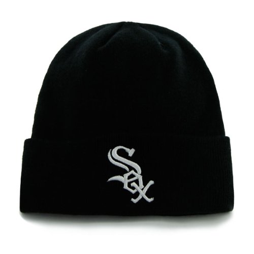 Chicago White Sox Black Beanie Hat - MLB Cuffed Winter Knit Cap at Amazon.com