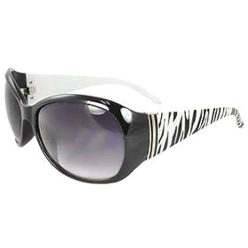 Premium Quality Fashion Sunglasses UV400 Lens Technology - Animal Print Sunglasses Black White Zebra - Extra Stunning