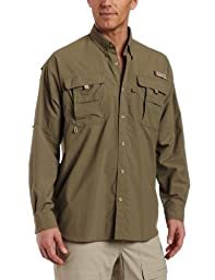Columbia Men\'s Bahama II Long Sleeve Shirt, Sage, Medium