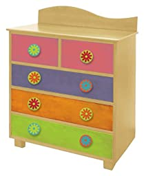 Room Magic Day of the Diva 5 Drawer Chest, Natural