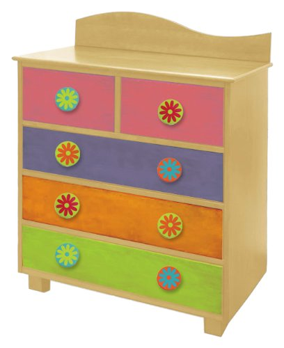 Room Magic Day of the Diva 5 Drawer Chest, Natural - 1