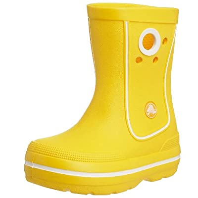Yellow Crocs Junior/Youth Kids Crocband Jaunt Wellies