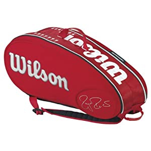 Buy Federer Limited Edition 9 Pack Tennis Bag Red by Wilson