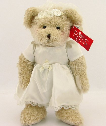 Russ Berrie White Lace And Promises Bride Teddy