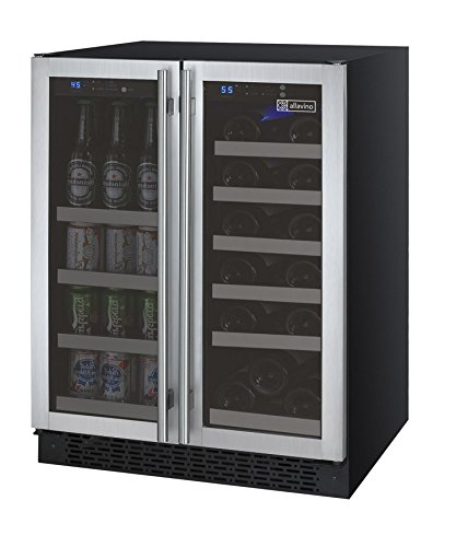 Allavino VSWB-2SSFN - 2 Door Wine Refrigerator/Beverage Center - SS Doors with Towel Bar Handles (Beverage Refrigerator Bar compare prices)