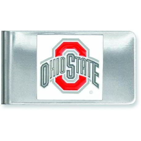 Stainless Steel Collegiate Ohio State University Money Clip