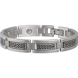 Buy Sabona Greek Key Stainless Magnetic Bracelet by Sabona