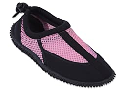 New Starbay Brand Toddler\'s Pink & Black Athletic Water Shoes Aqua Socks Size 6