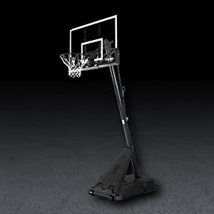 Buy Spalding Hercules Pro Glide Advanced Lift Portable Basketball Hoop with 52-Inch Acrylic Backboard by Spalding