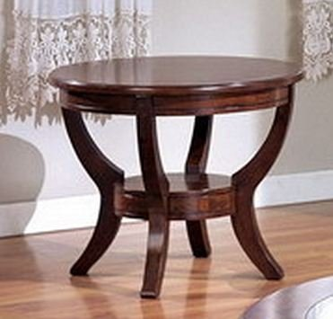 Cheap Coty Round End Table In Brown Finish By Crown Mark Furniture (4510-02-N)
