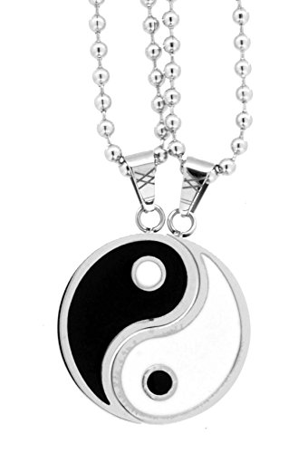 Yin Yang Pair of Necklaces, Couple Necklaces, Best Friend Necklaces (Yin and Yang)
