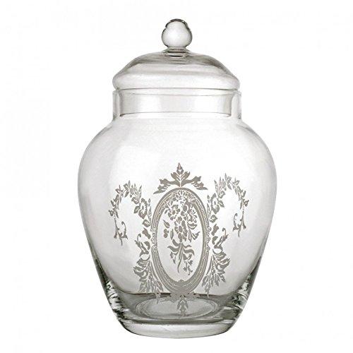 bocal gravé type baroque bonbonnière bocaux verre